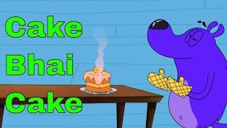 Pyaar Mohabbat Happy Lucky - Ep.9 | Cake Bhai Cake | Hindi Animated Cartoon Show | ZeeQ