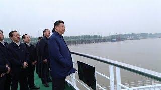 President Xi inspects construction work along Yangtze River