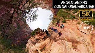 VR360 5K - Angels Landing Trail - Zion National Park Utah