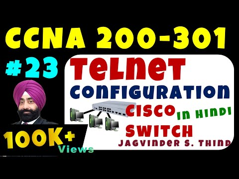 Cisco CCNA Switch Configuration Step by Step - Telnet Configuration - Video 2