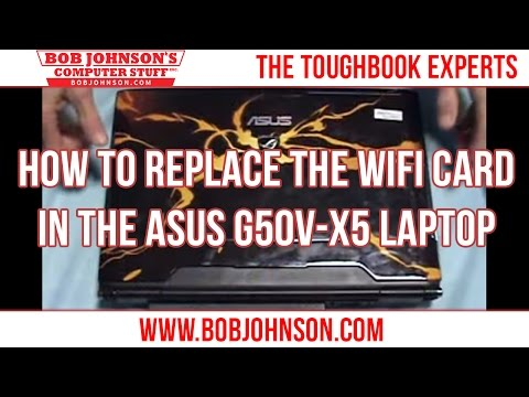 How to replace the WIFI card in the ASUS G50V-X5 Laptop