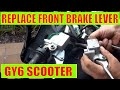 How to change scooter front brake master Cylinder & Lever