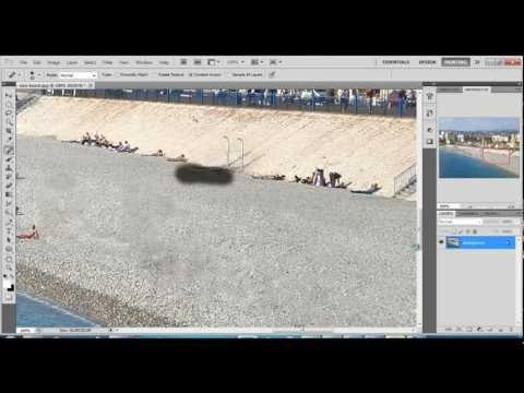Cleaning beach - Photoshop Cs5