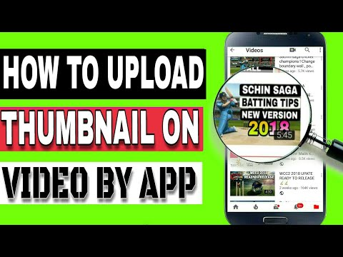 How to upload thumbnail on video by app , without pc