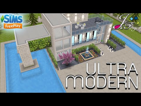 The Sims FreePlay 🏬| ULTRA MODERN MANSION |🏬