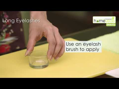 Grow Your Eyelashes Using Castor Oil| Easy Remedy - Homeveda