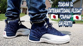 best sneakers 56ca1 ac6a4 Air Jordan 12 international flight review on feet Videos ...