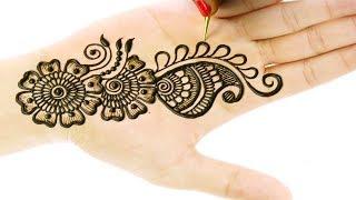Beautiful and Simple Mehndi Designs For Hands - Arabic Mehndi Design #83 @jaipurthepinkcity