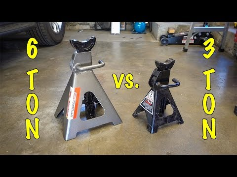 Harbor Freight PITTSBURGH 6 TON HEAVY DUTY JACK STANDS
