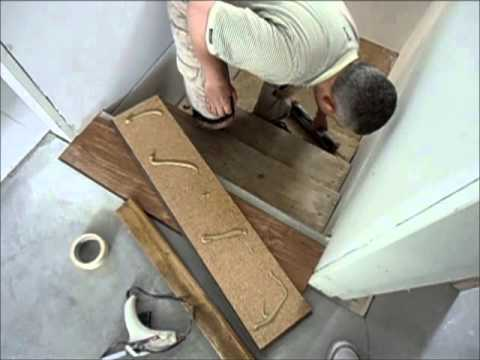 Laminate Flooring on Stairs: How-to Start Installation Use Stair Jig DIY Tips Mryoucandoityourself