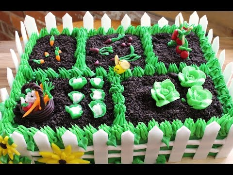 How to Make a Vegetable Garden Cake