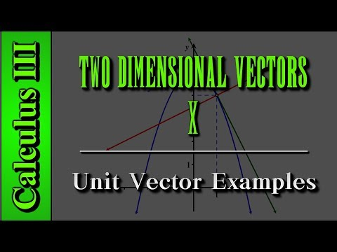 Calculus III: Two Dimensional Vectors (Level 10 of 13) | Unit Vector Examples