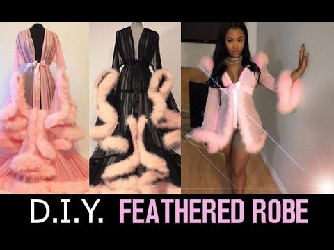 DIY Feathered Robe