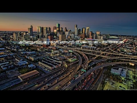 Houston  Drone - Downtown - Galleria & Other Areas - 4K-HD