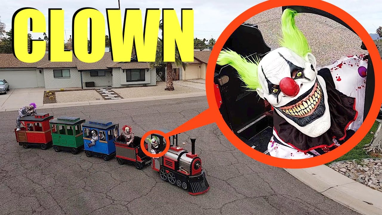 If you see a Clown on this Toy Train outside your house RUN Away FAST!! (They chased us)
