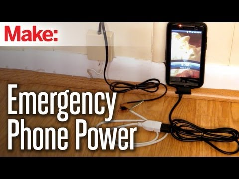 DIY Hacks & How To's: Emergency Power from a Land Line
