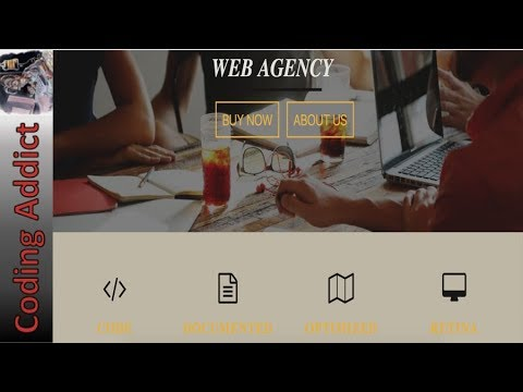 Responsive Website - Build Responsive Web Agency Website using only HTML and CSS!!