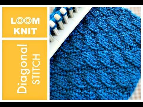 LOOM KNITTING STITCHES Diagonal Stitch