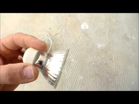 comment installer un spot led encastrable,how to install LED recessed spot