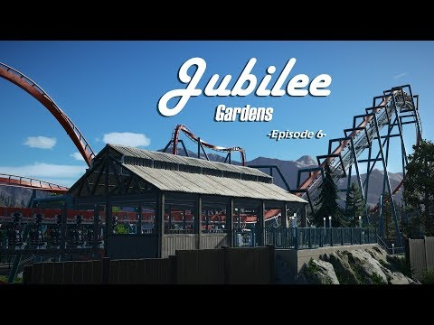 Planet Coaster: Jubilee Gardens [Ep. 6] - Inverted Roller Coaster and Backstage work!