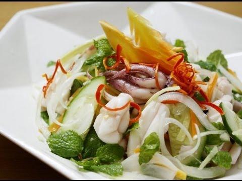 How to make Vietnamese squid salad - Goi muc