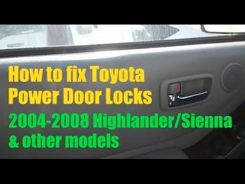 Toyota power door locks not working (Fix/Solved)
