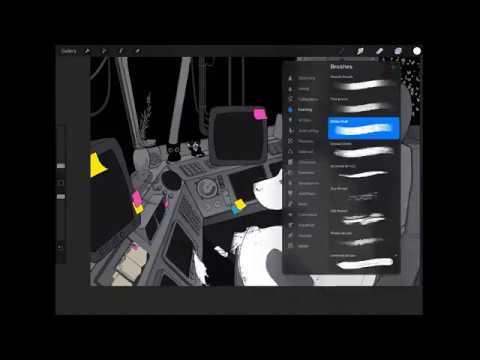 Watch Me Draw - Space Pup Progress on Twitch