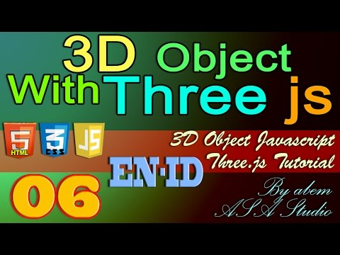 3D Object With Three Js, 6, Adding Material with Image, Javascript Tutorial