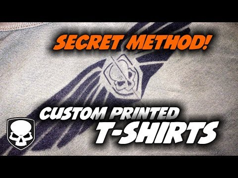 Custom T-shirts - easy - how to secret for beginners