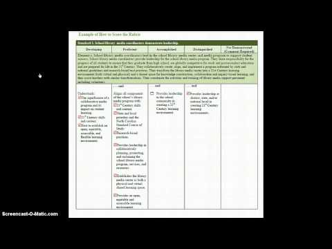Scoring the Rubric: SLMC Evaluation Instrument