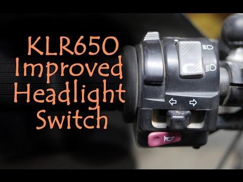 KLR650 - Improved Headlight switch