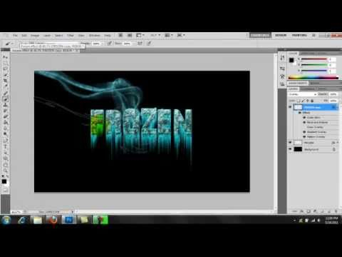 How to make Frozen Text in Photoshop cs5