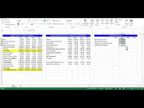 Cash Flow From Assets using Excel