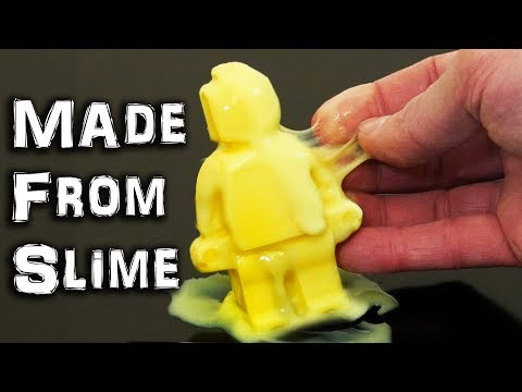 I put SLIME in the Freezer & Made a Lego Style Figure