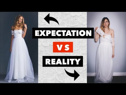 Trying on cheap wedding dresses from Wish