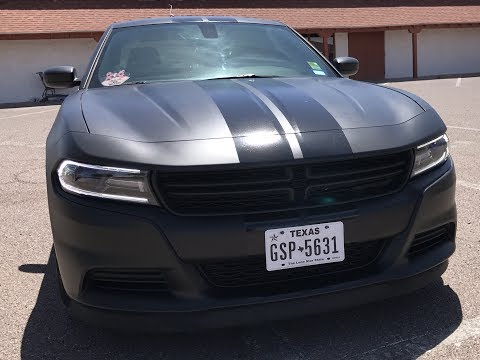 Gloss racing stripes on matte black plasti dip