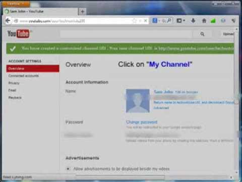 how to create a username to Youtube account or channel ( September 2013)