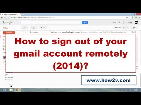 How to sign out of your gmail account remotely from another computer 2014?
