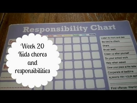 52 Week Organizing Challenge {week 20 kids chores and responsibilities}