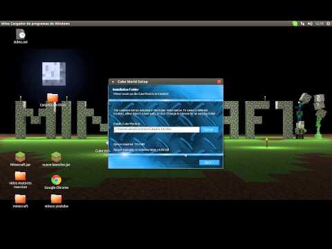 como instalar cube world en linux ubuntu y windows