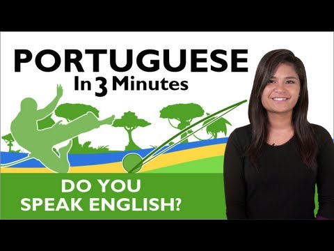 Learn  Brazilian Portuguese - Do you speak English?