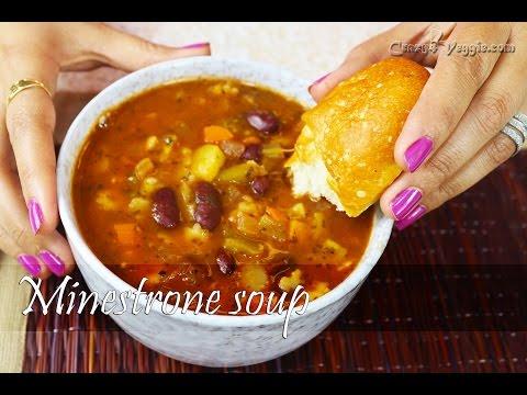 Hearty Minestrone soup   Vegetarian recipe by crazy4veggie.com