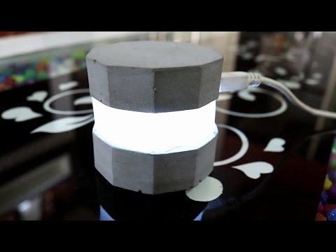Homemade Modern Concrete LED Light