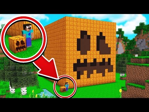 WORLDS BIGGEST MINECRAFT PUMPKIN TROLL!
