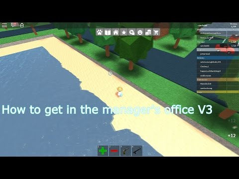 Roblox: How to get in the manager's office V3 - Work at a Pizza Place -