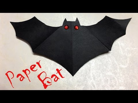DIY: Halloween Decorations | Paper Bat | Easy Crafts for Kids