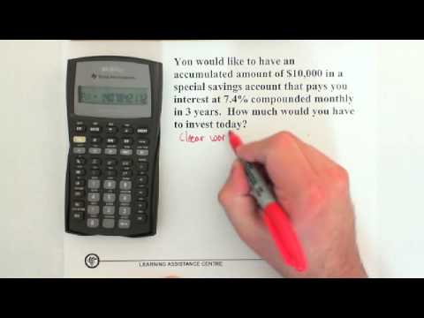 10. Compound Interest: Present Value/Future Value