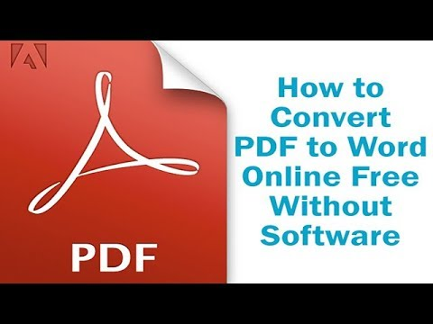 How to Convert PDF to Word Online Free Without Software