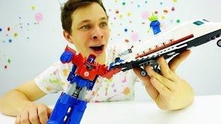 Download Трансформеры: Оптимус Прайм против марсиан! Видео про игрушки Video