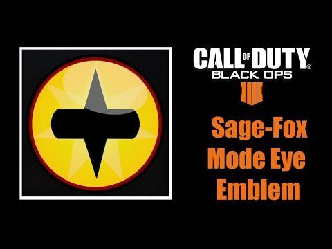 Call of Duty Black Ops 4 Naruto Sage-Fox Mode Eye Emblem